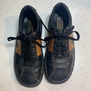 Skechers comfort construction black brown shoes